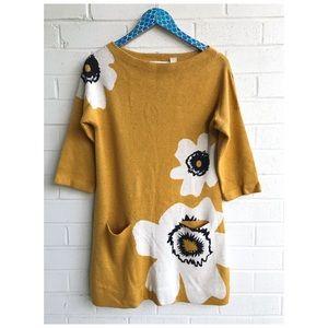 Anthro Field & Flower Poppy Pocket Sweater Tunic